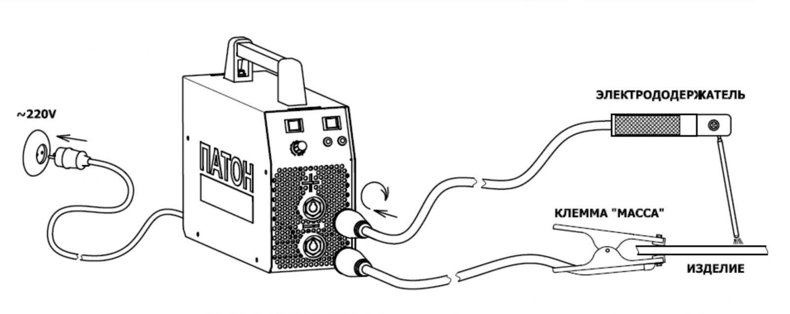 Схема подключения сварочного аппарата